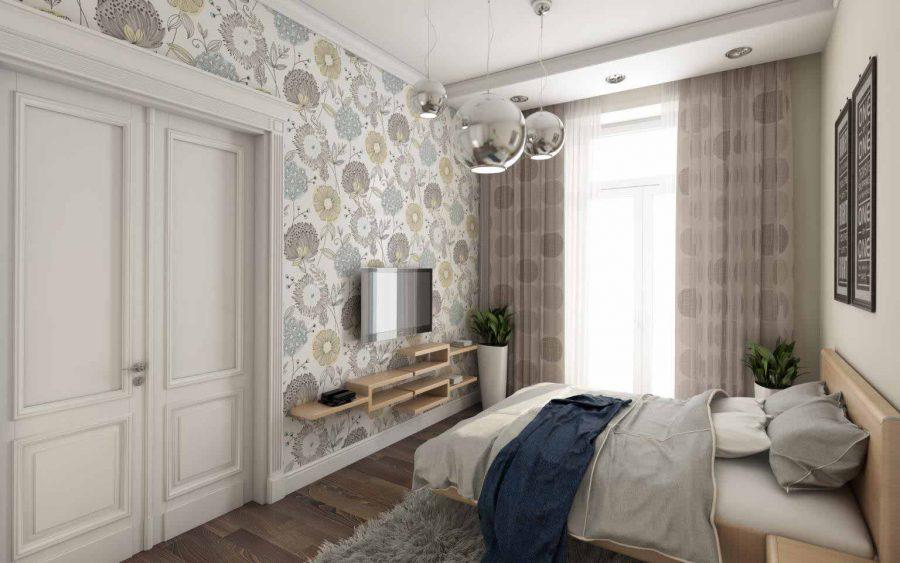 Phòng ngủ với thiết kế tường đầy hoa