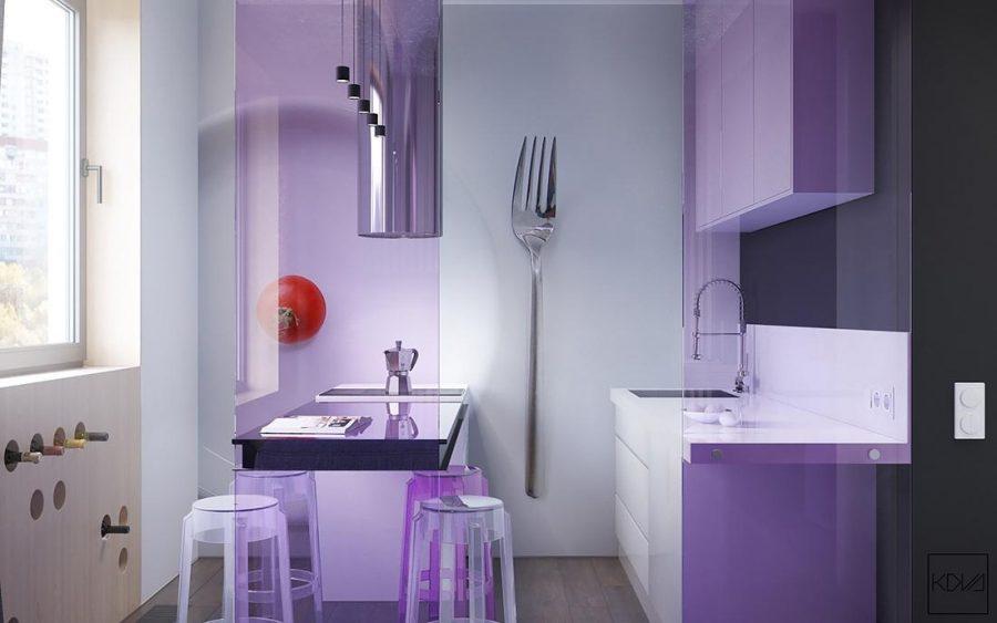 Một chút nữ tính và lãng mạn với hệ thống tủ bếp này