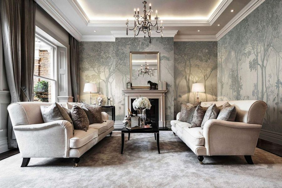 phòng khách tân cổ điển là một trong những phong cách được rất nhiều người yêu thích