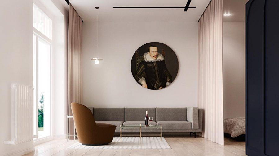 Sử dụng màu sắc phù hợp với phòng khách tối giản để không làm mất đi tính chất