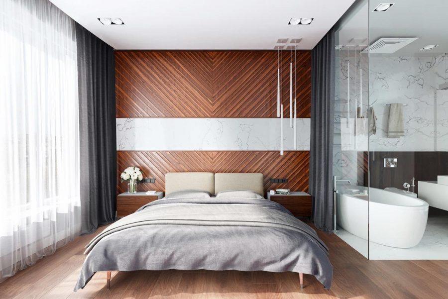 Lắp một bức tường ngăn bằng kính xung quanh phòng tắm để mở rộng không gian nhưng vẫn giữ được hơi nước trong phòng tắm