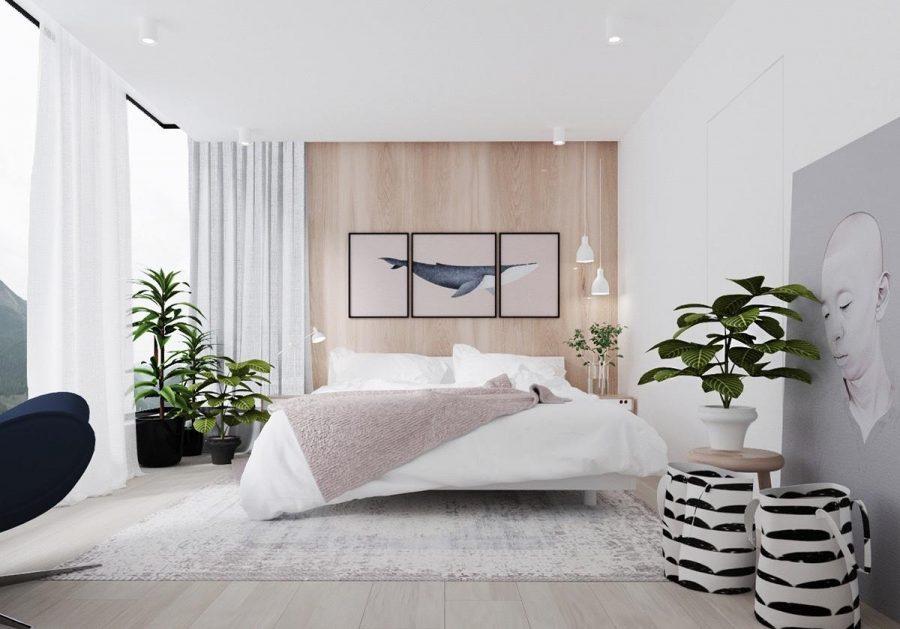 Yếu tố tự nhiên giúp phòng ngủ thêm sinh động