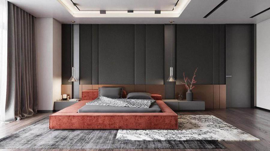 Giường thấp đã trở thành một món đồ nội thất phòng ngủ hiện đại rất được mong đợi với nhiều kiểu dáng