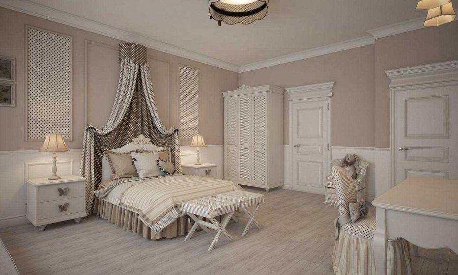 Phòng ngủ cho bé theo phong cách Tân cổ điển cũng là một ý tưởng hay cho các bậc cha mẹ