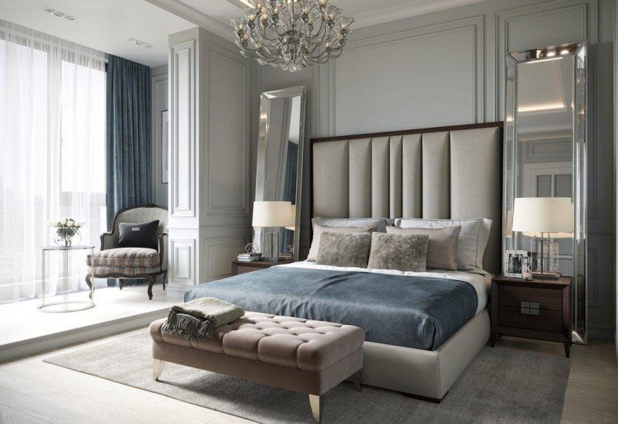 Phòng ngủ sở hữu những đặc điểm của phong cách Tân cổ điển