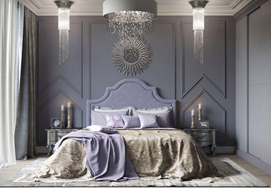 Phòng ngủ được thiết kế đối xứng với nhau từ tủ đầu giường cho đến bóng đèn một cách hợp lý