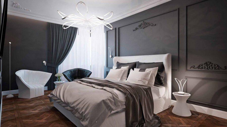 Hệ thống đèn trần, đèn tường và đèn bàn đồng bộ với nhau mang đến sự hòa hợp cho không gian