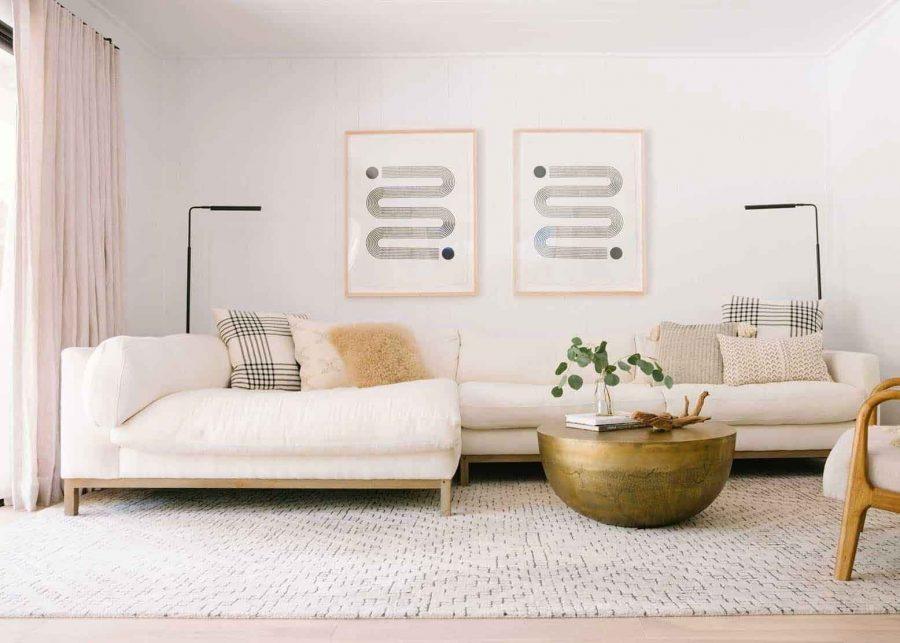 Mỗi một khu vực trong nhà nên sử dụng một loại thảm riêng biệt