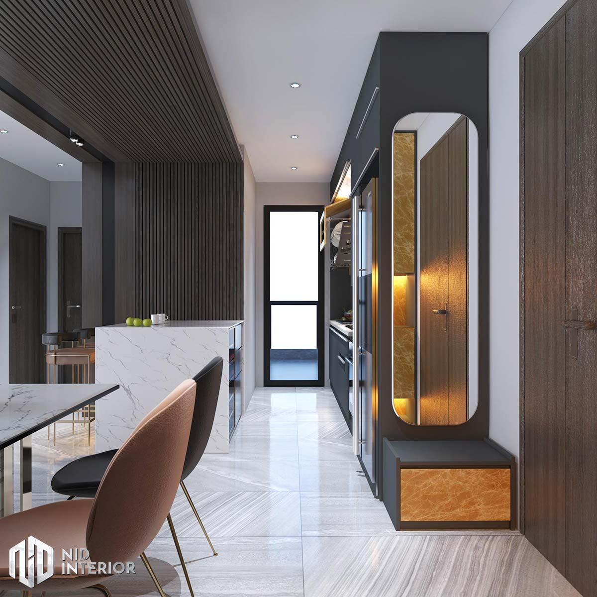 Thiết kế nội thất căn hộ The Grande Midtown - Bếp