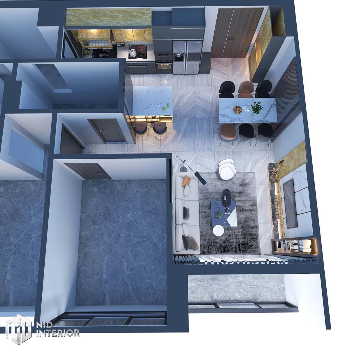 Thiết kế nội thất căn hộ The Grande Midtown - Mặt bằng