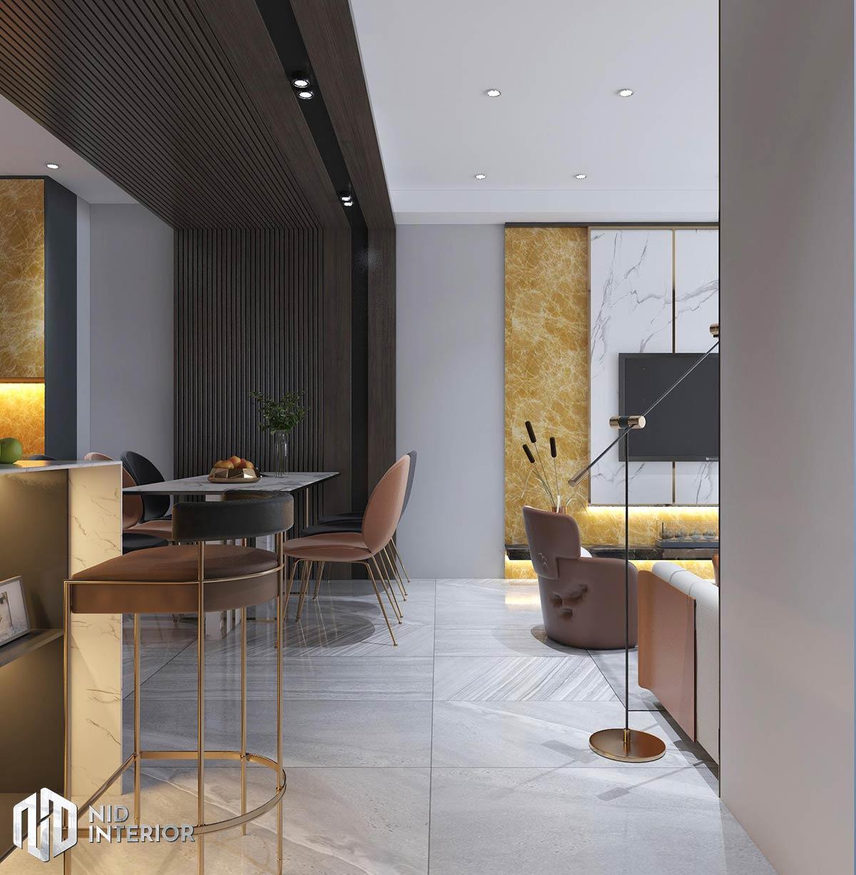 Thiết kế nội thất căn hộ The Grande Midtown - Bàn ăn
