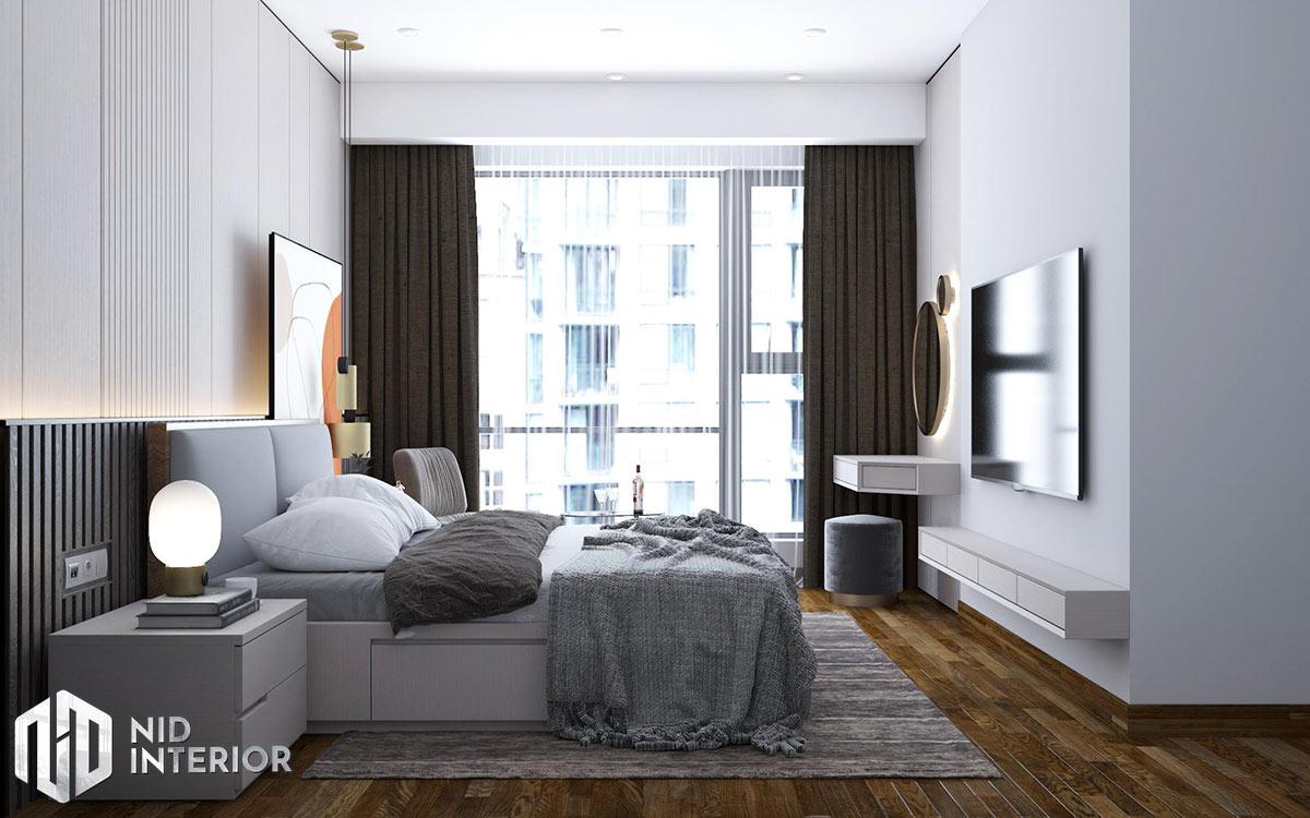 Thiết kế nội thất căn hộ Opal Saigon Pearl - Phòng ngủ master