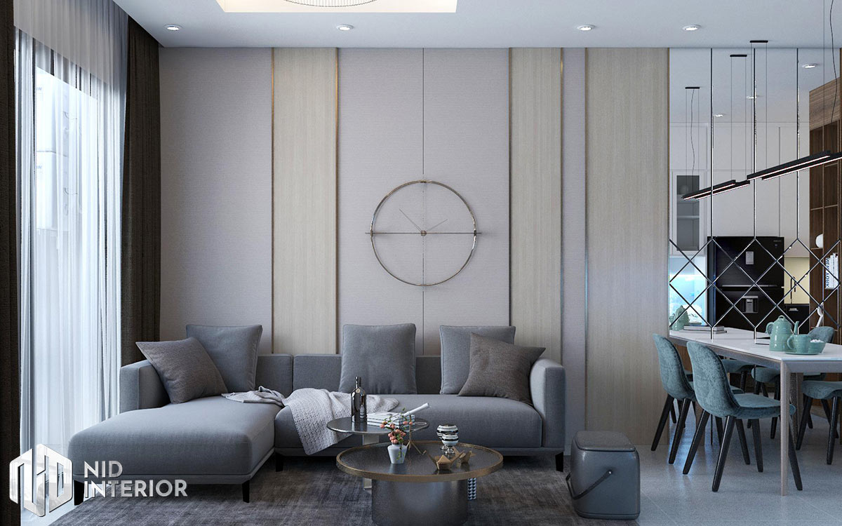 Thiết kế nội thất căn hộ Opal Saigon Pearl - Phòng khách