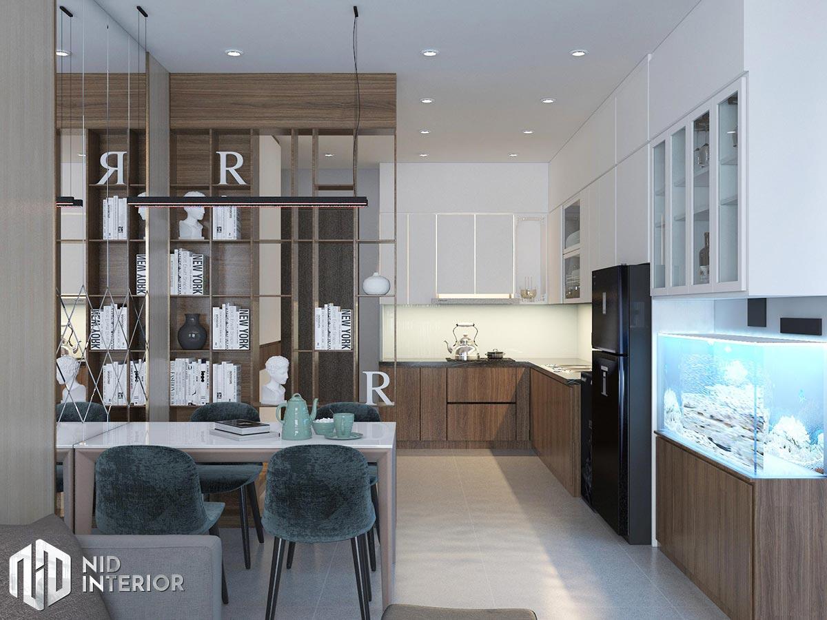 Thiết kế nội thất căn hộ Opal Saigon Pearl - Khu bếp và bàn ăn