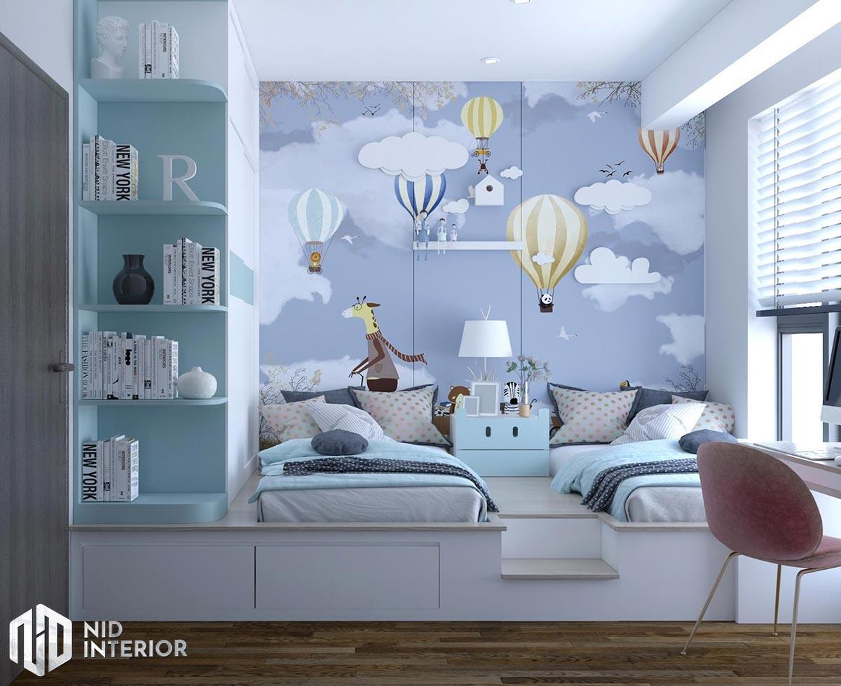 Thiết kế nội thất căn hộ Opal Saigon Pearl - Phòng 2 bé trai
