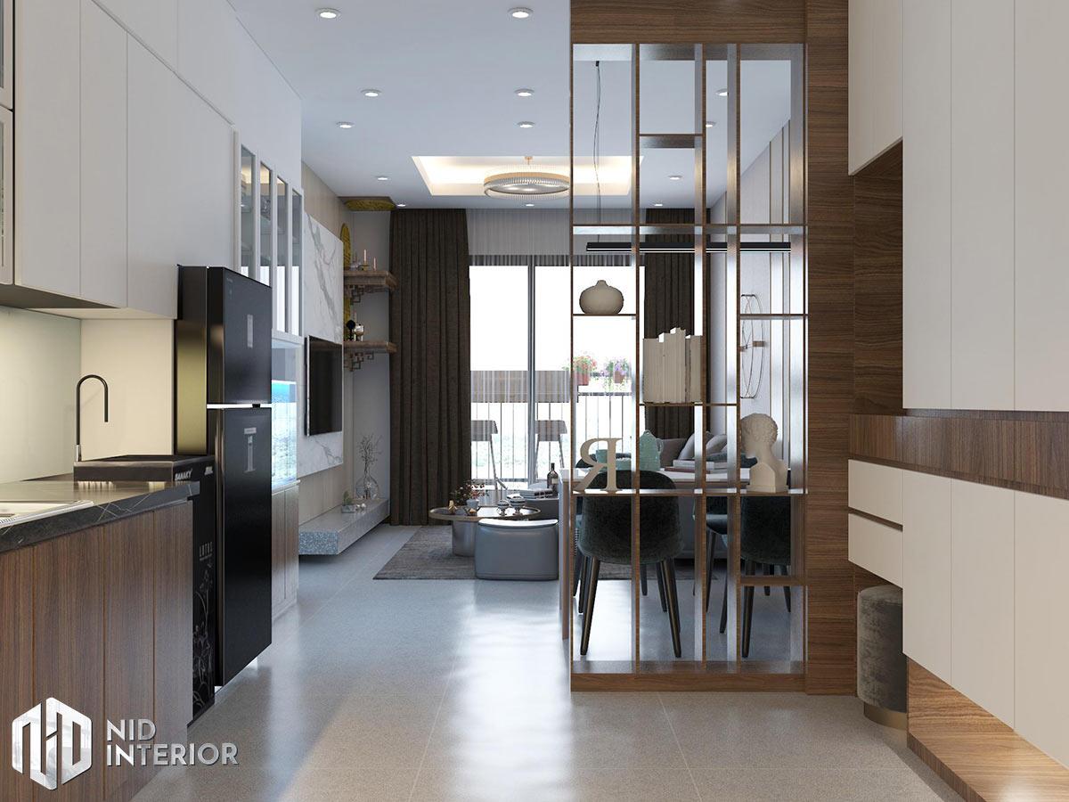 Thiết kế nội thất căn hộ Opal Saigon Pearl - Khu sinh hoạt chung
