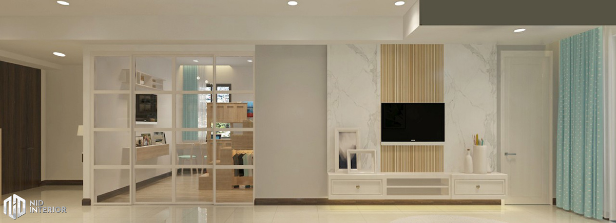 Thiết kế nội thất căn hộ Saigon South Residences - Phòng khách