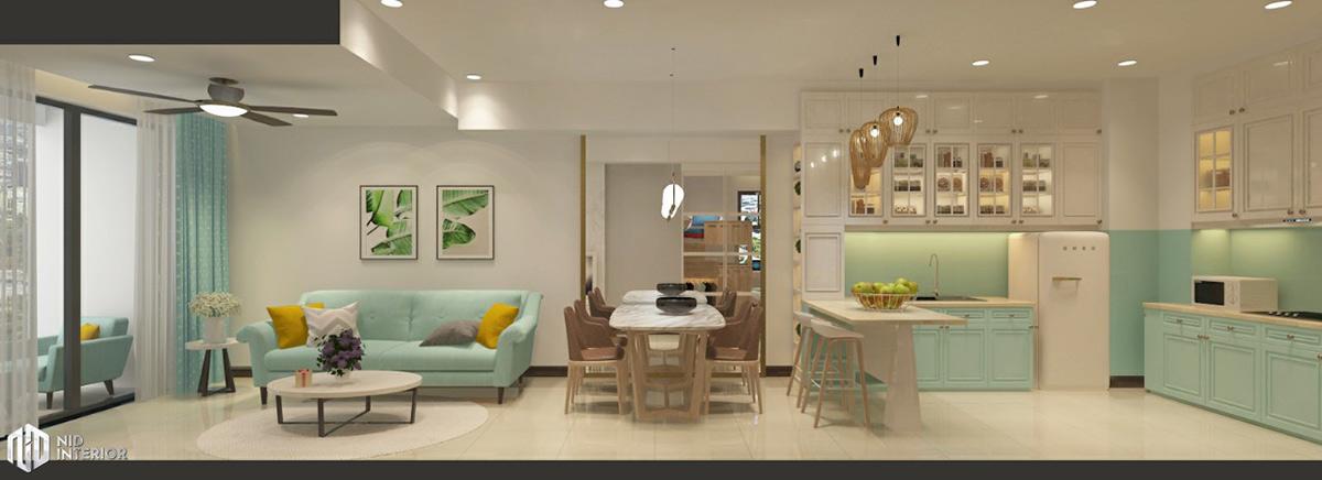 Thiết kế nội thất căn hộ Saigon South Residences - Khu sinh hoạt chung