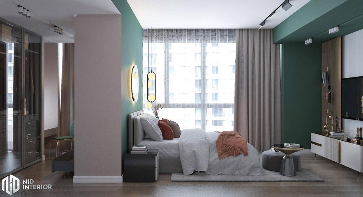 Thiết kế nội thất căn hộ Sunrise City South Towers - Phòng ngủ 1