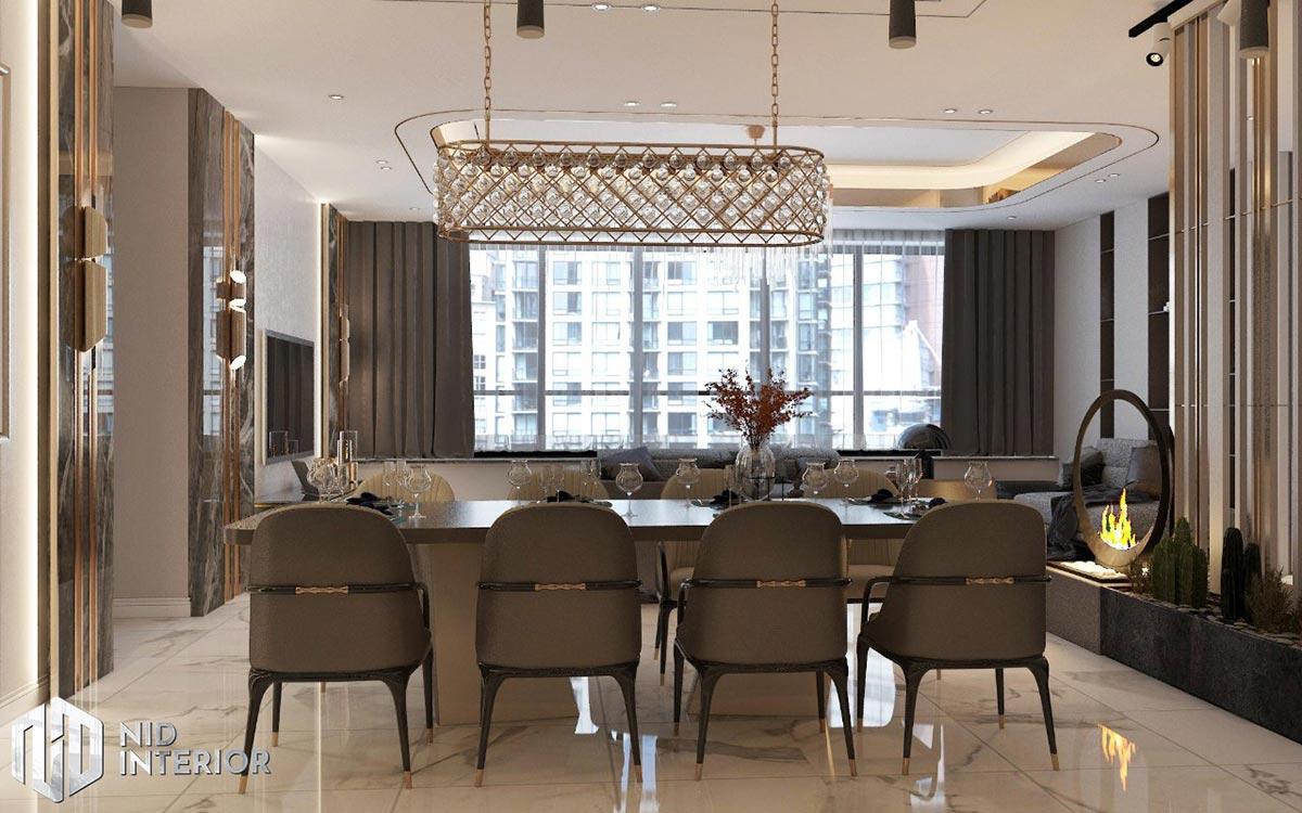 Thiết kế nội thất căn hộ Sunrise City South Towers - Bàn ăn