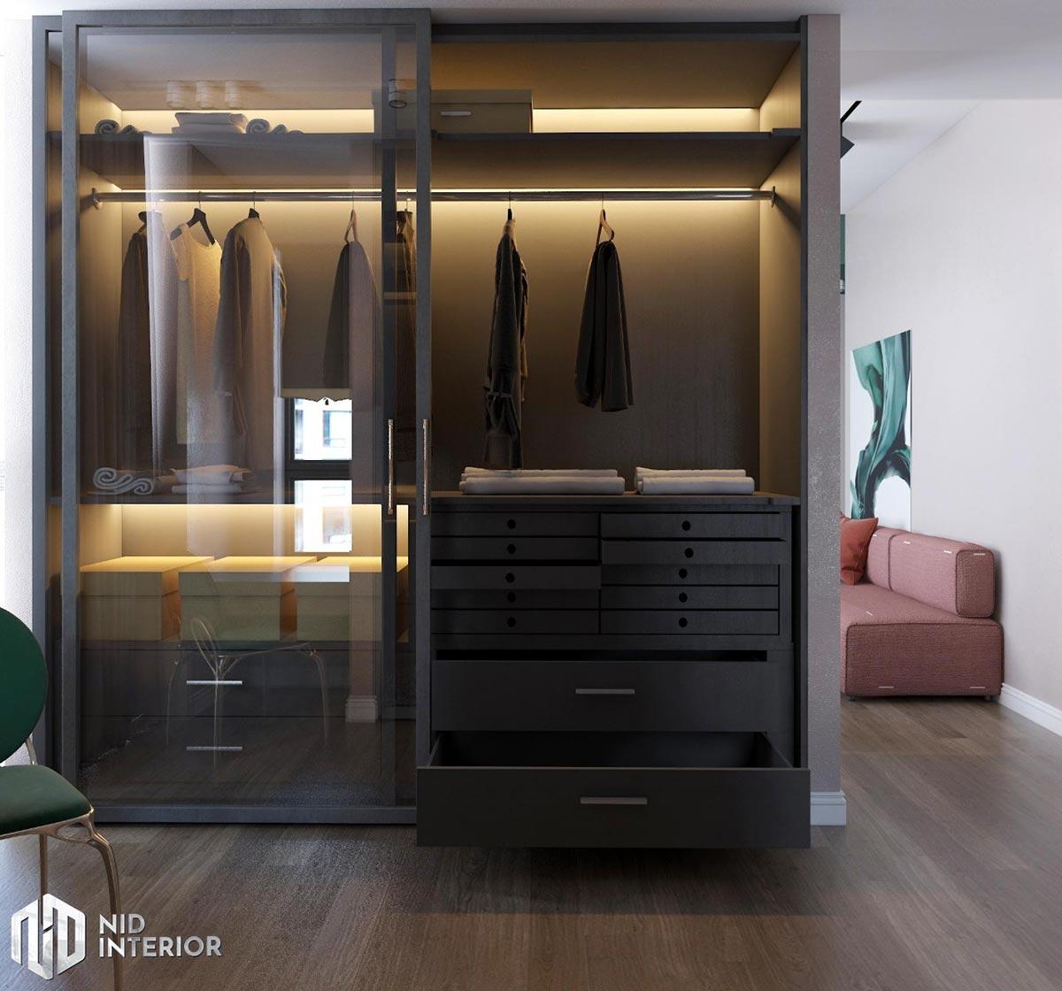 Thiết kế nội thất căn hộ Sunrise City South Towers - Tủ quần áo