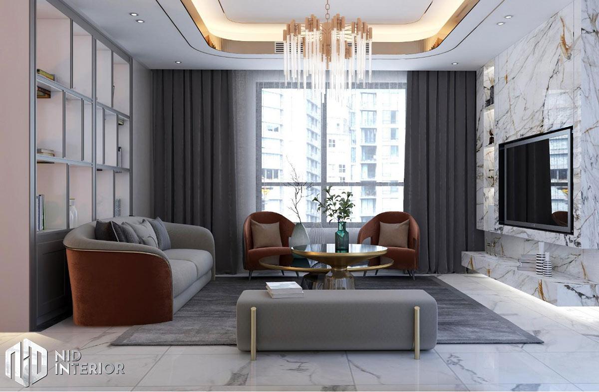 Thiết kế nội thất căn hộ Sunrise City South Towers - Phòng chờ