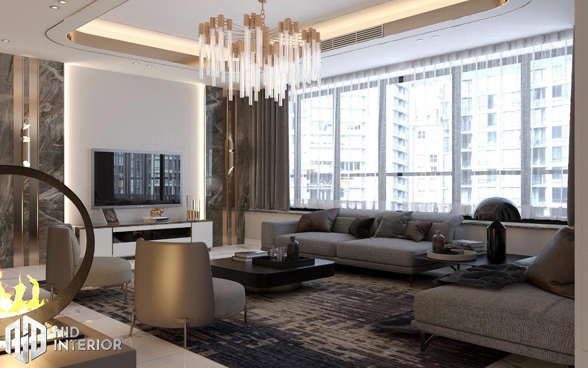 Thiết kế nội thất căn hộ Sunrise City South Towers - Phòng khách