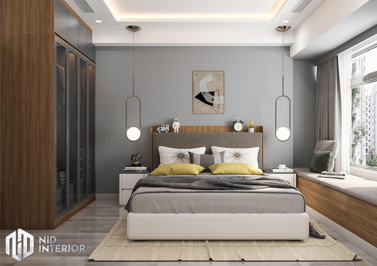 Thiết kế nội thất căn hộ The Grande Midtown - Phòng ngủ nhỏ