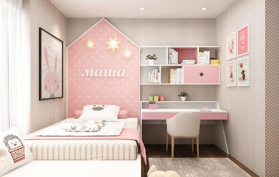 Thiết kế phòng ngủ bé gái là một trong những vấn đề được rất nhiều các bậc phụ huynh quan tâm hiện nay