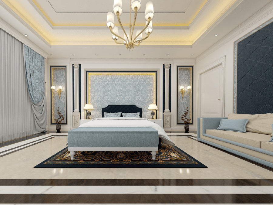 Phòng ngủ cổ điển mang đến sự sang trọng và không gian ấm cúng khi nghỉ ngơi