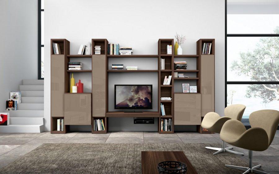 Tủ trang trí với kiểu dáng hiện đại, nhiều ngăn giúp cho việc lưu trữ đồ dùng, đồ trang trí vô cùng ấn tượng
