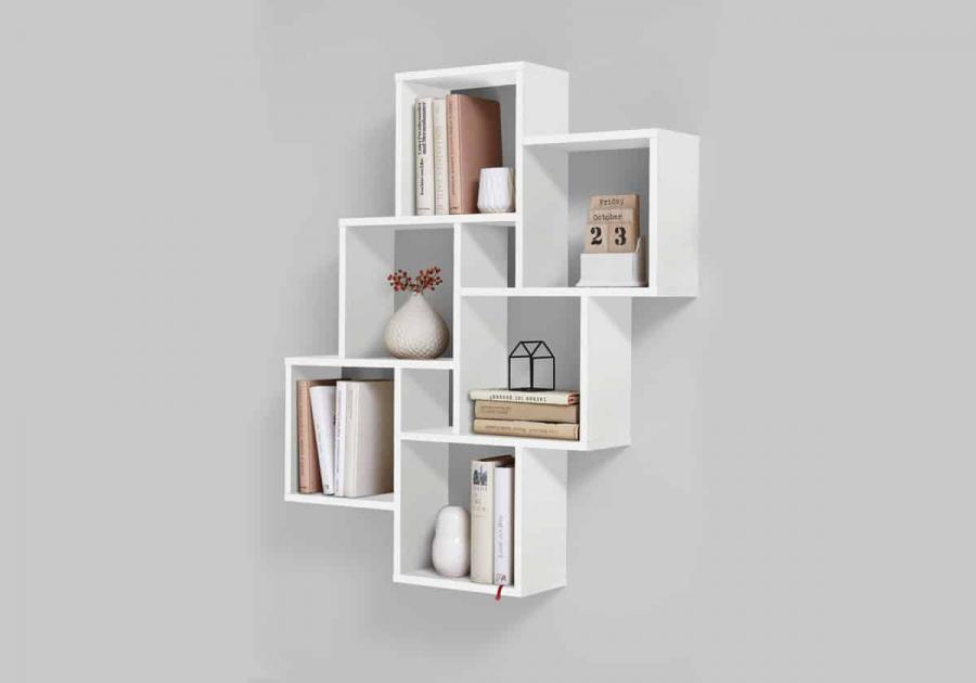 Trong khi kệ sách tiêu chuẩn có xu hướng có các kệ dài. Thì các kệ lưu trữ hình khối có các kệ vuông, nơi bạn có thể để sách, giỏ trang trí hoặc hộp một cách dễ dàng