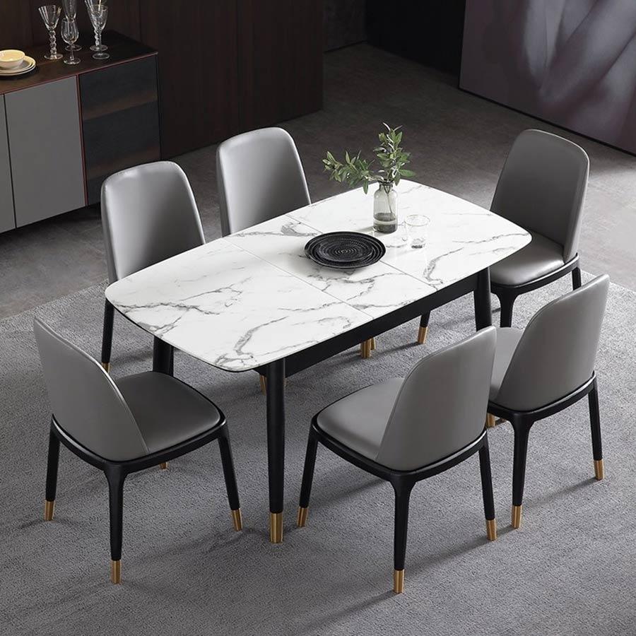 Kích thước của chiếc bàn ăn mà bạn chọn cũng phải có sự tương thích với diện tích phòng ăn của bạn
