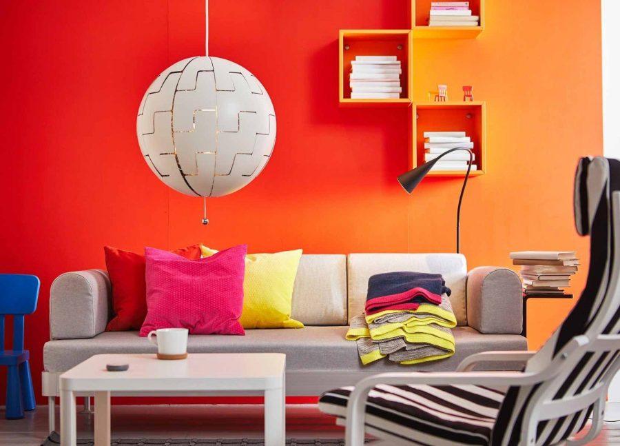 Hoạt động của phòng khách nên có sự tương đồng với màu sắc căn phòng
