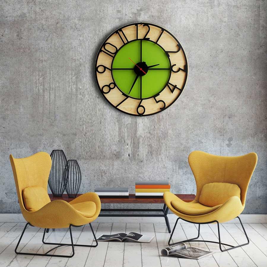 Màu sắc đồng hồ tạo nên điểm nhấn cho căn phòng