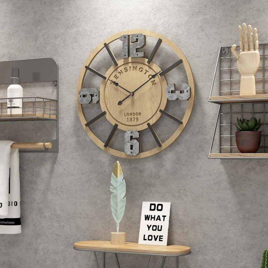 Có rất nhiều chất liệu để tạo nên một chiếc đồng hồ treo tường