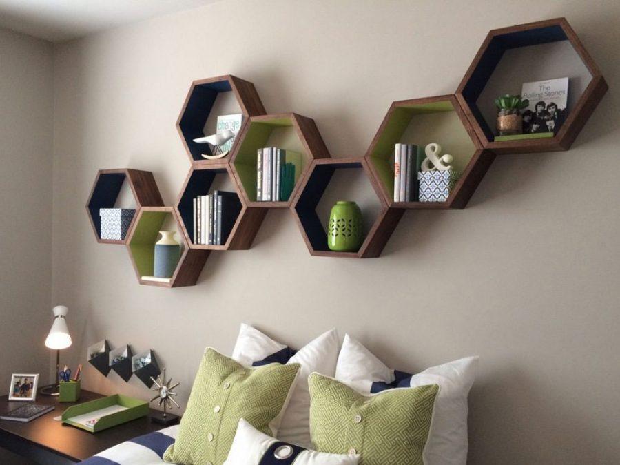 Giá sách treo tường bằng gỗ được sử dụng phổ biến nhất hiện nay