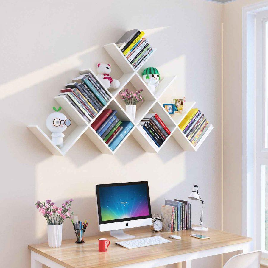 Những mẫu giá sách treo tường đẹp và sáng tạo nên tham khảo