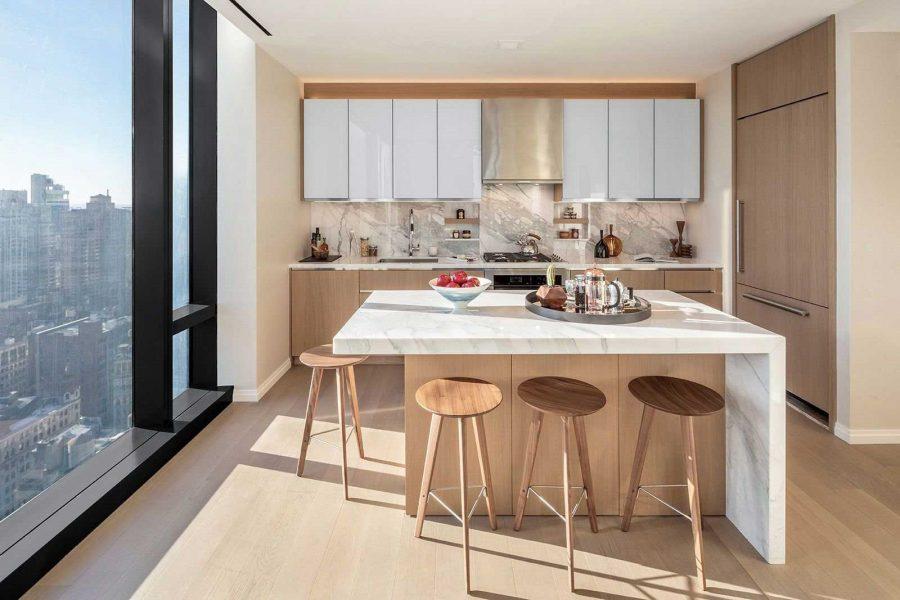 Đối với không gian phòng bếp, phòng tắm, bạn nên sử dụng gỗ chống thấm của An Cường...