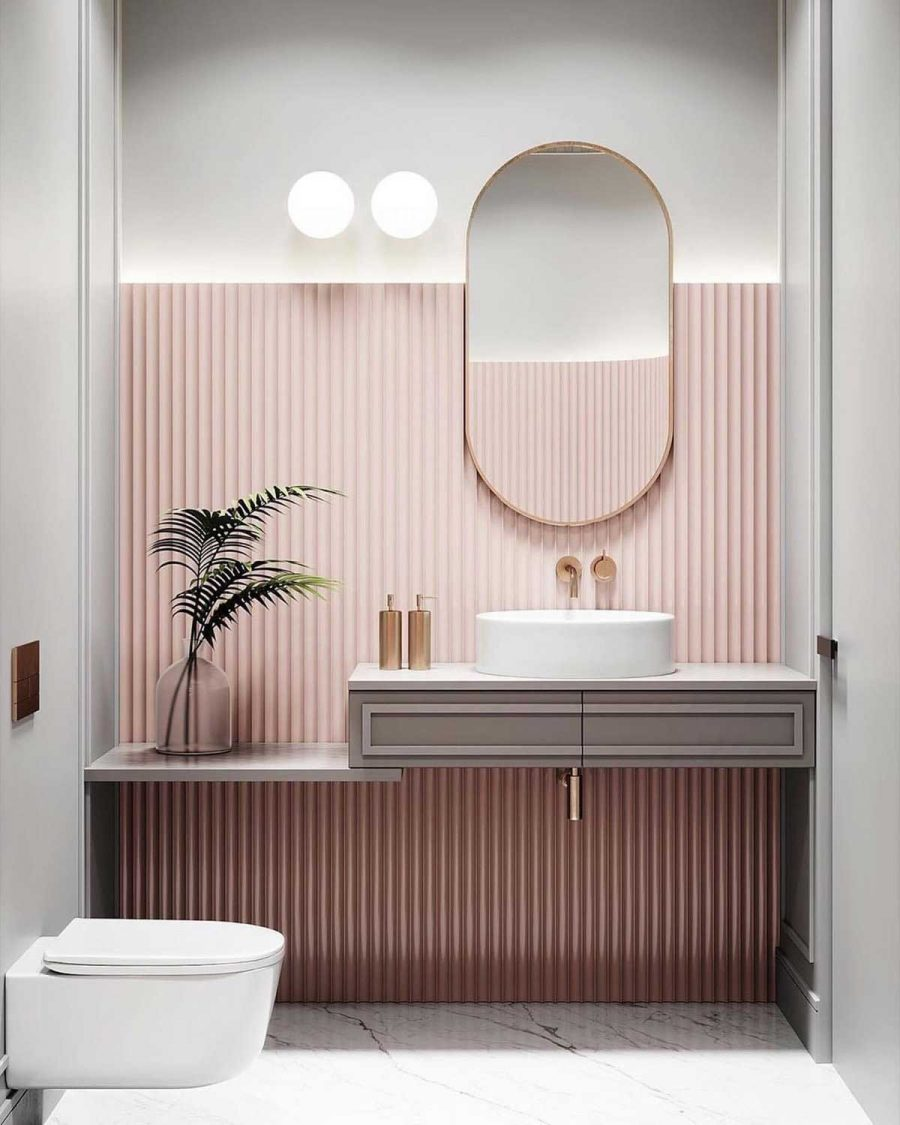 Một chút ngọt ngào cho phòng tắm nhà bạn