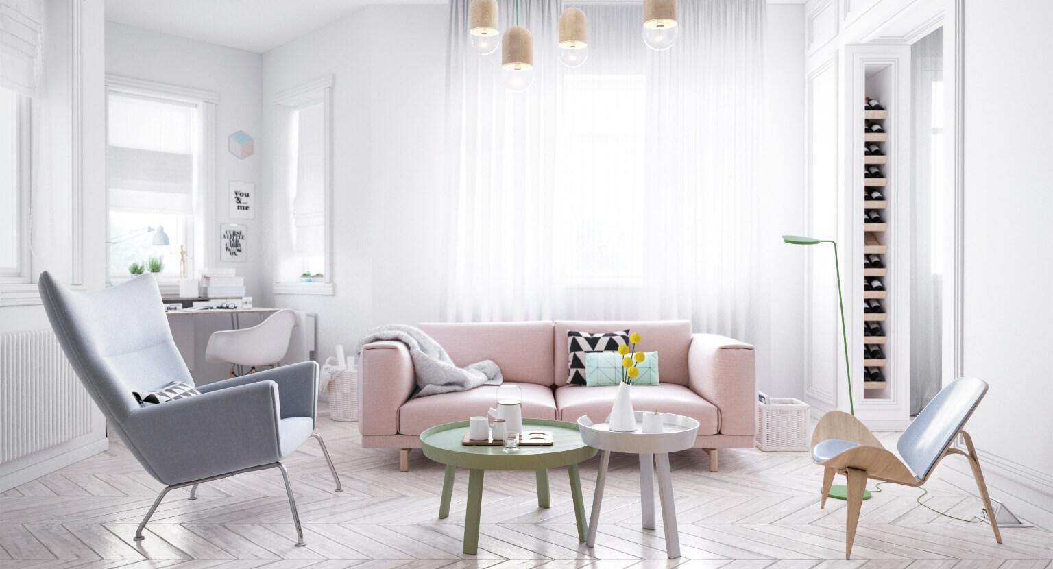 Màu Pastel là gì? Ứng dụng màu pastel trong lĩnh vực nội thất