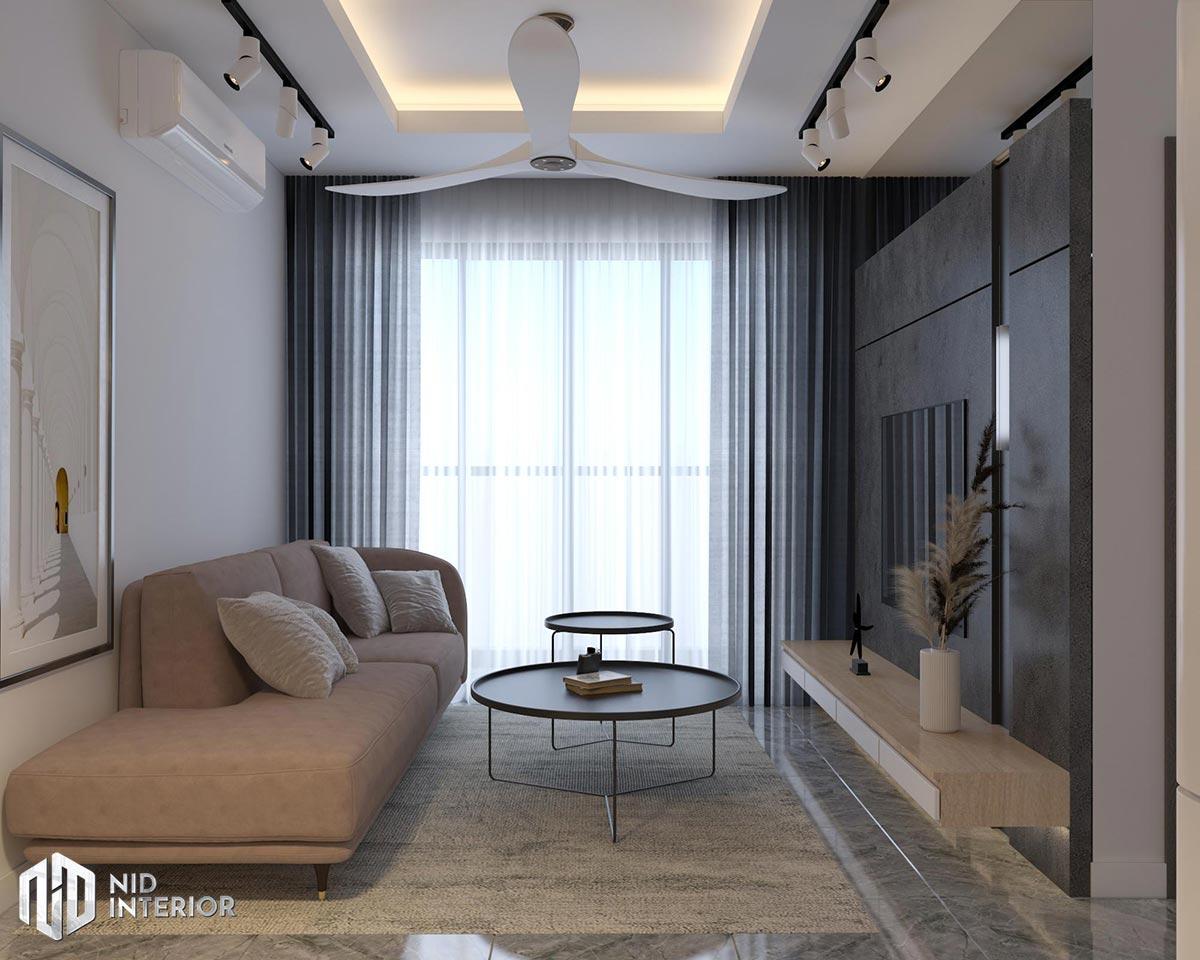 Thiết kế nội thất căn hộ Vinhomes Grand Park - Phòng khách
