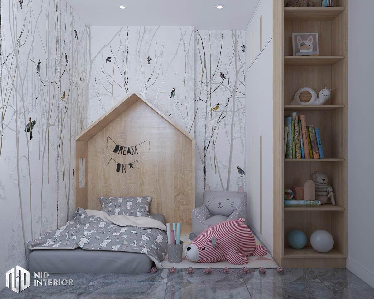 Thiết kế nội thất căn hộ Vinhomes Grand Park - Phòng ngủ trẻ em
