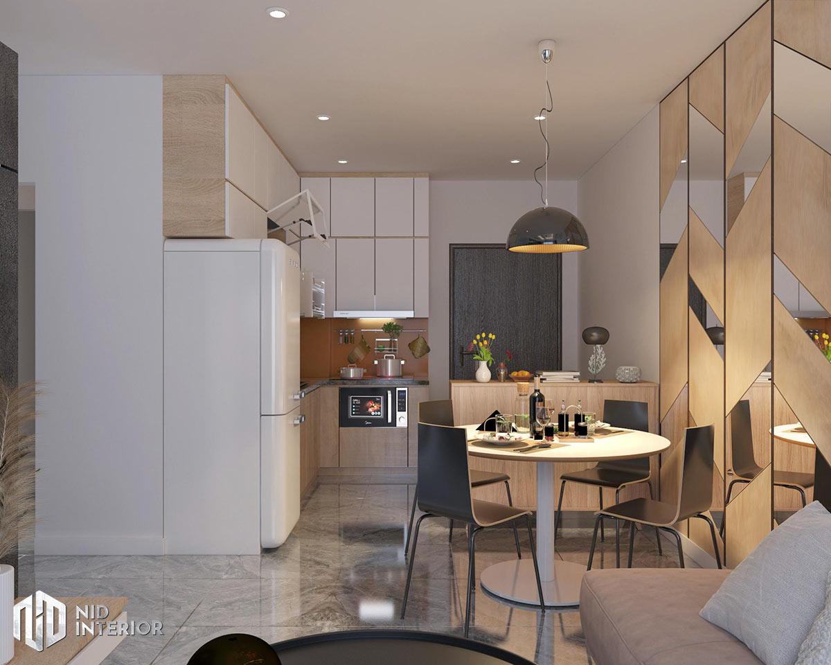 Thiết kế nội thất căn hộ Vinhomes Grand Park - Bếp