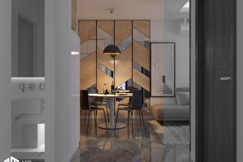 Thiết kế nội thất căn hộ Vinhomes Grand Park 2 phòng ngủ