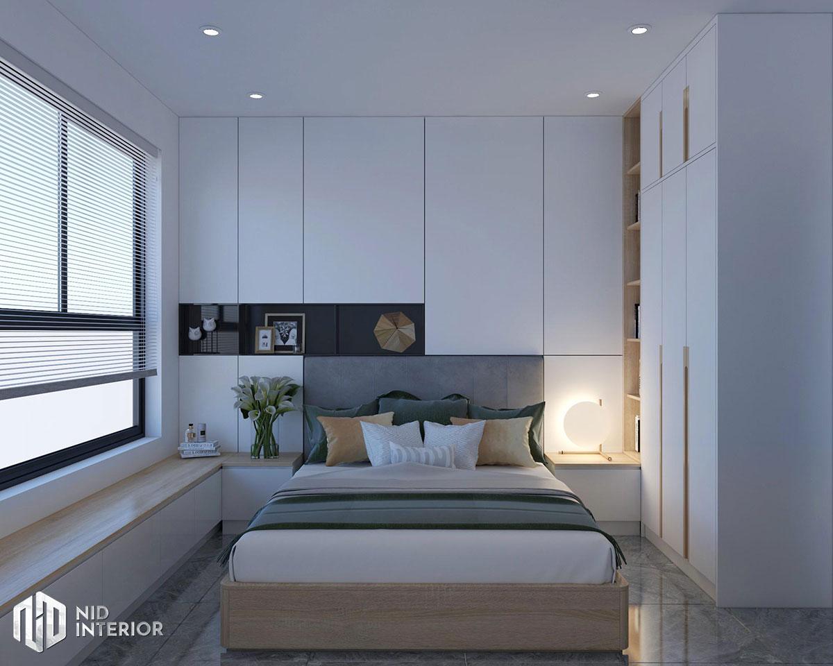 Thiết kế nội thất căn hộ Vinhomes Grand Park - Phòng ngủ master