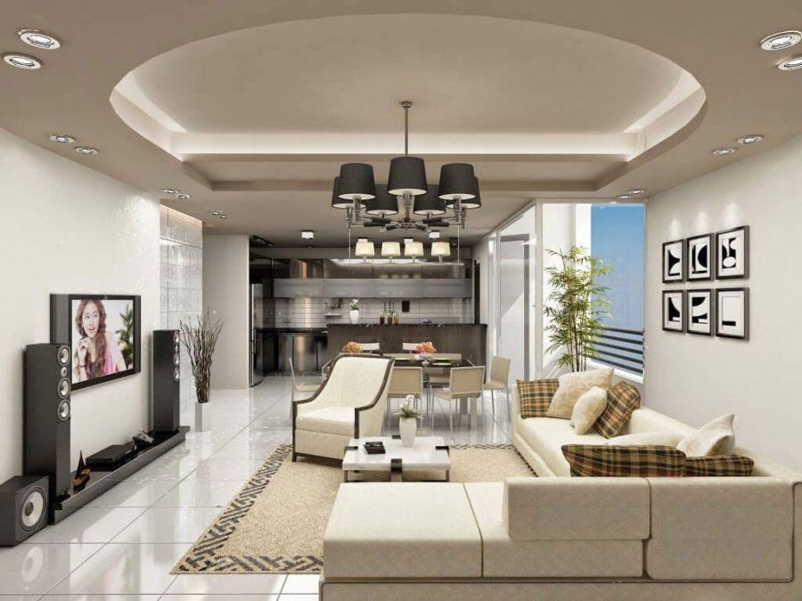 Trần nhà cần có màu sắc hài hòa và tương đồng với màu sơn tường để tạo nên sức hút và nét tương đồng cho không gian