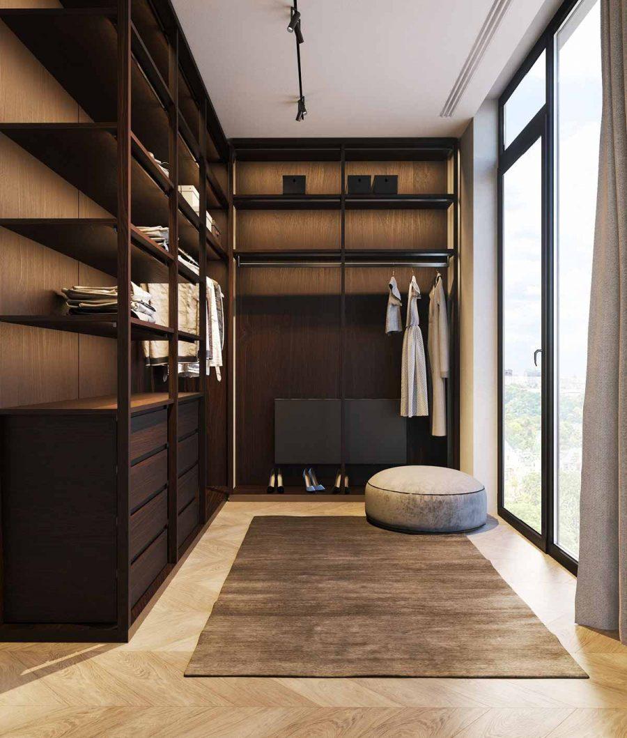 Tủ quần áo kết hợp với tủ giày, ý tưởng không thể tuyệt hơn