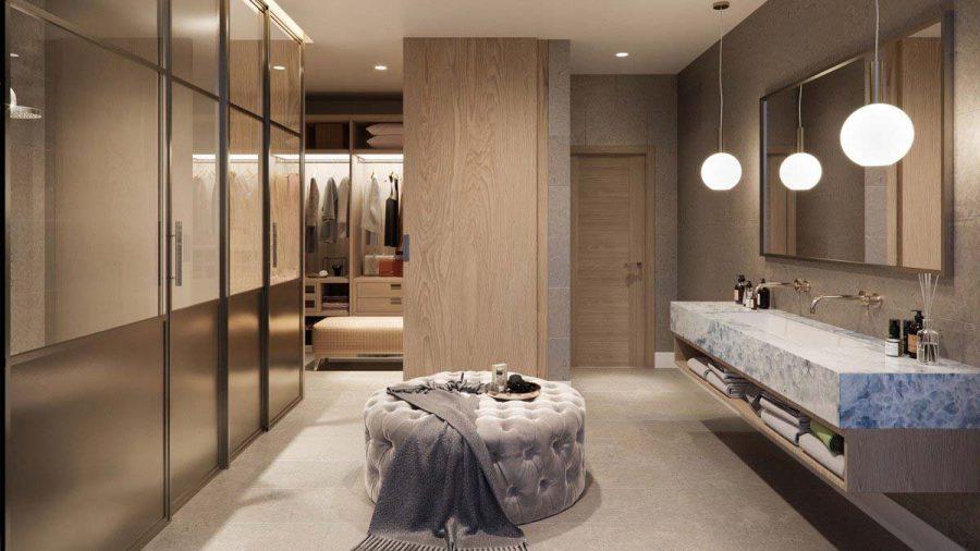 Chất liệu của tủ cần phù hợp với nội thất xung quanh