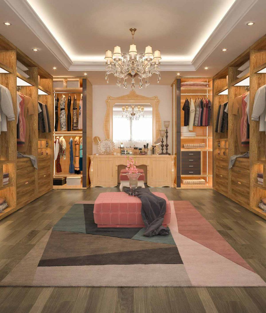 Bạn có muốn những chiếc tủ quần áo của mình sang trọng như thế này không?